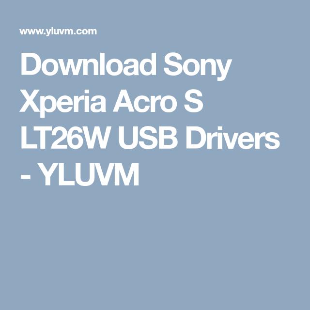 Xperia driver usb sony lt26i