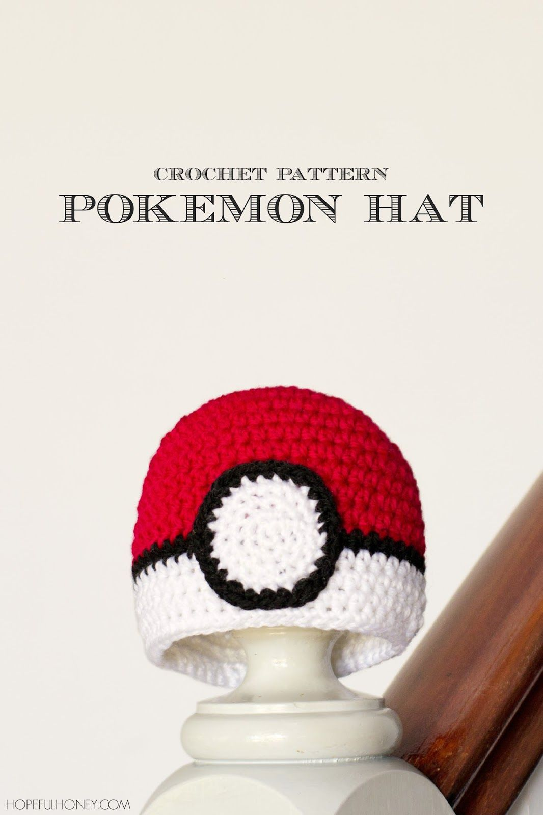 Newborn Pokémon Pokéball Inspired Hat - Free Crochet Pattern ...