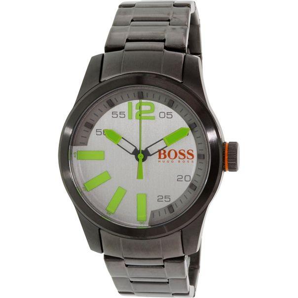 Hugo Boss Men's Paris 1513050 Grey Stainless-Steel Quartz Watch