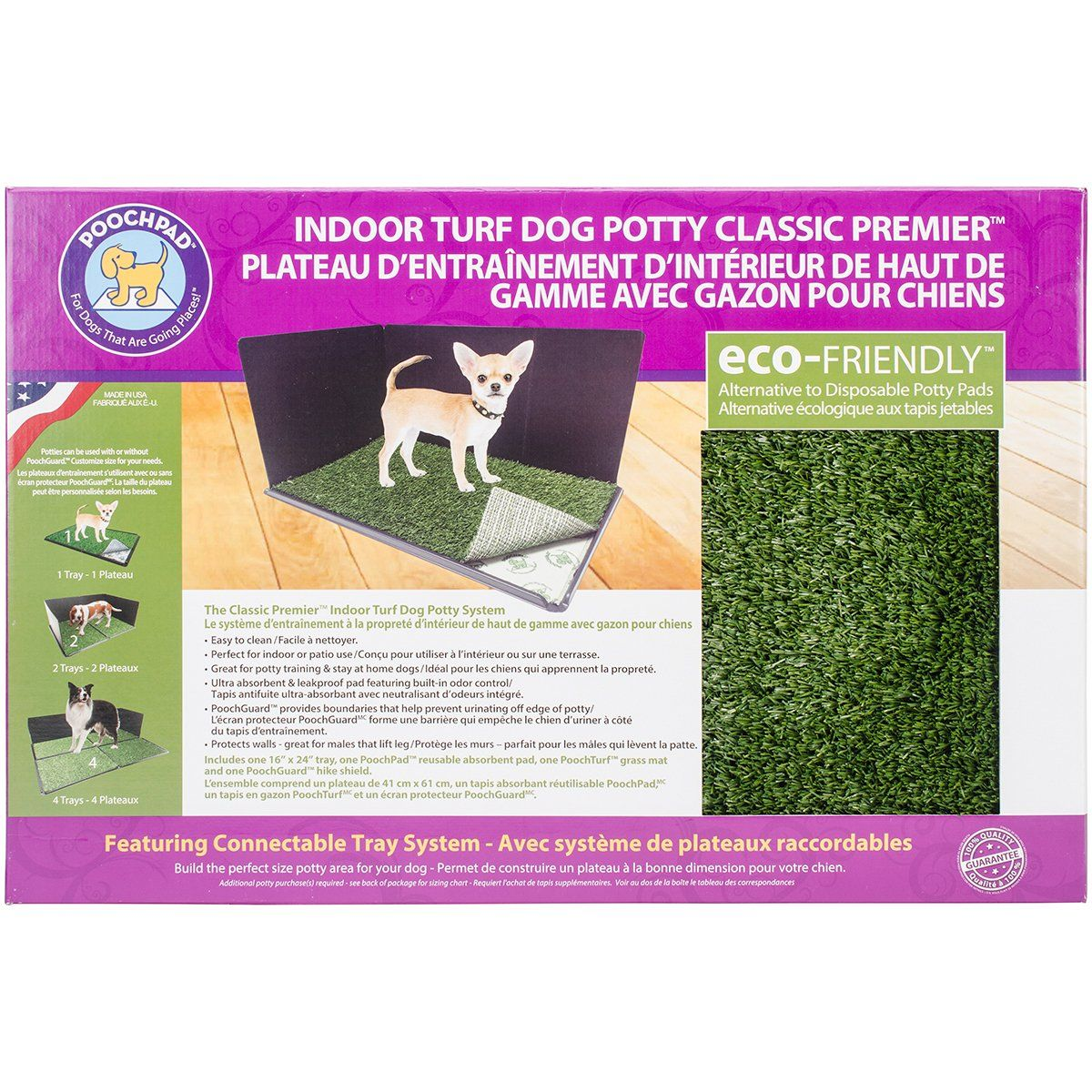 Poochpad Indoor Turf Dog Potty Classic Premier Connectable