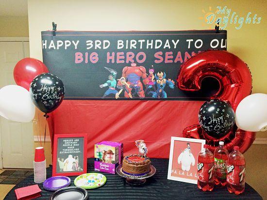 Big Hero 6 Birthday Banner