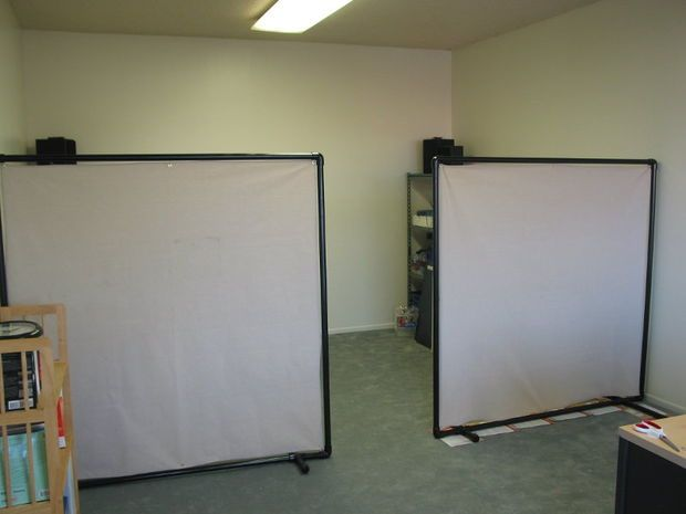 diy pvc office partition cheap office partitions