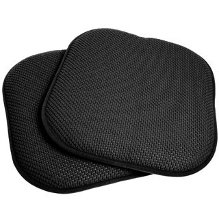 Merveilleux Black 16 Inch Memory Foam Chair Pad/Seat Cushion With Non Slip Backing (2  Or 4 Pack) | Overstock.com Shopping   The Best Deals On Chair Pads
