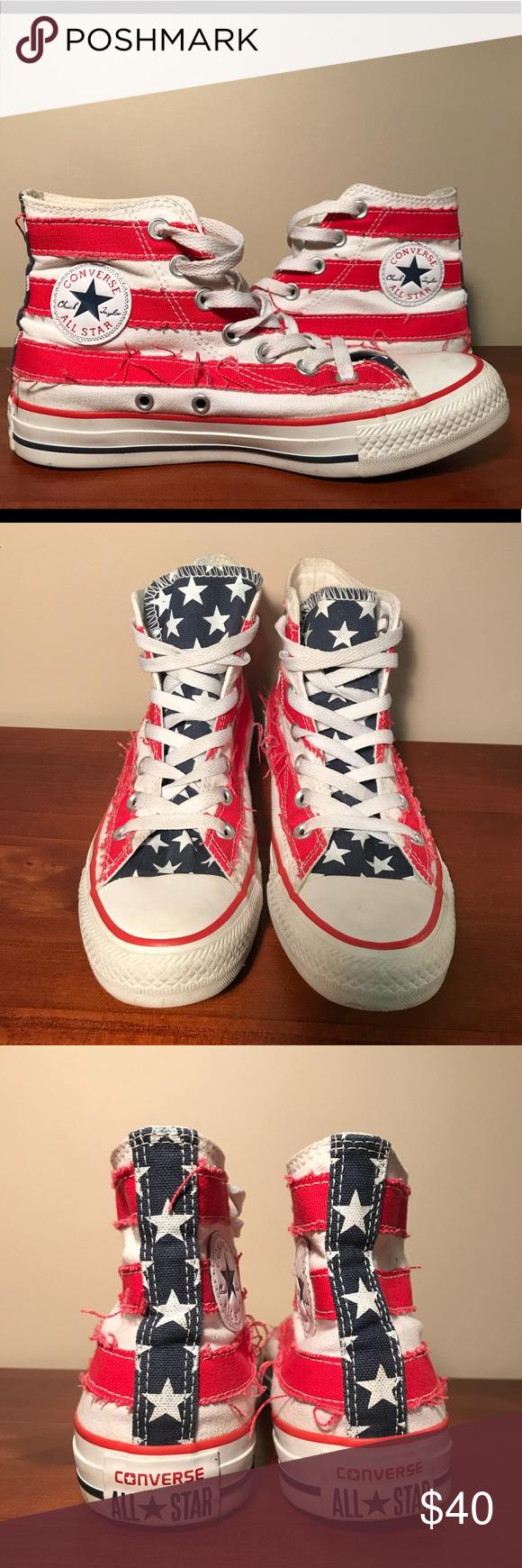 43161b4f17e0 Converse Chuck Taylor Americana High Tops 4M 6W Unisex American Flag Chuck  Taylor All Stars