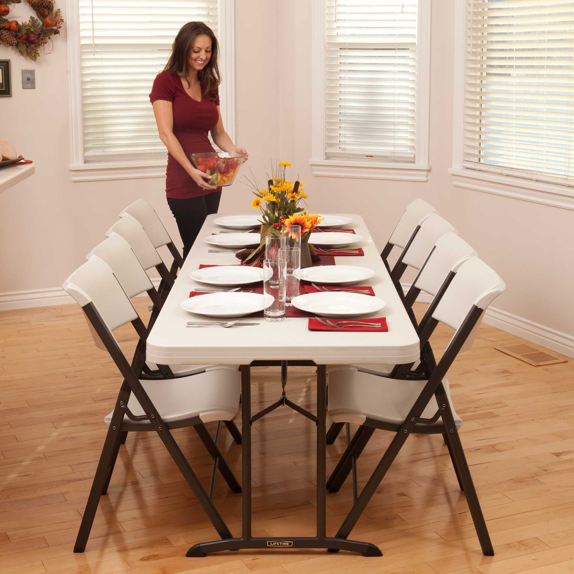 This Is A Lifetime Fold In Half Table Displayed Kitchen Dining Setting