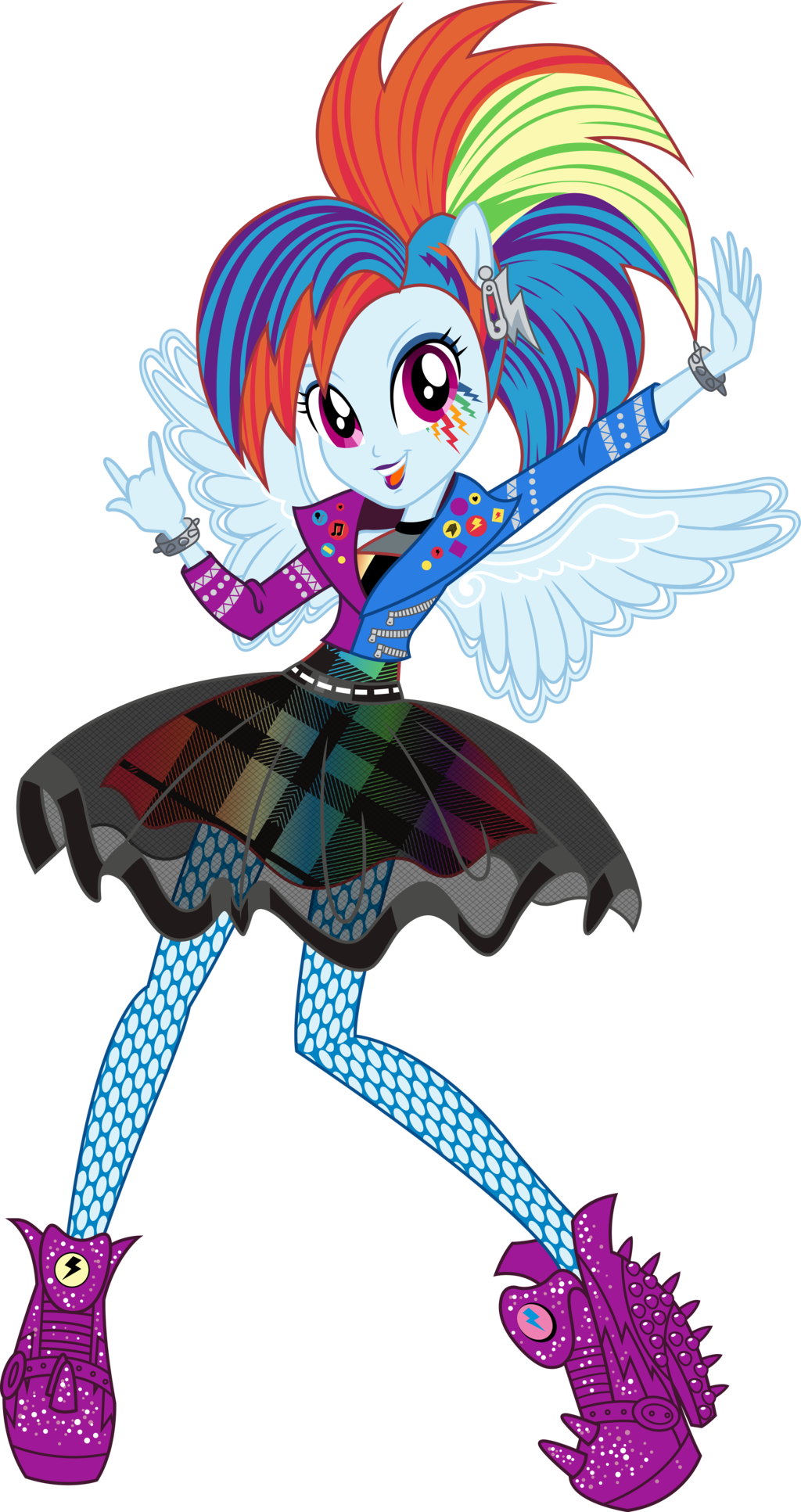 Rockin Hair Rainbow Dash Vector By Icantunloveyou My Little Pony Pictures Rainbow Dash My Little Pony Friendship