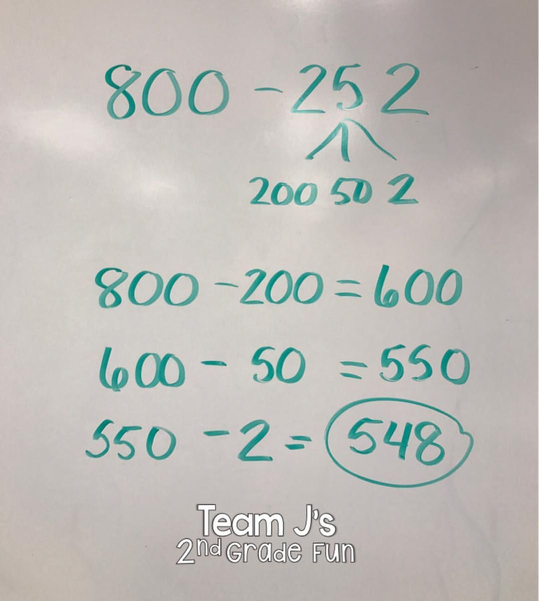 Love The Break Apart Strategy For Subtraction Helps Kids