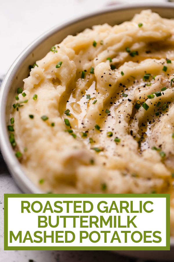 Roasted Garlic Buttermilk Mashed Potatoes Plays Well With Butter Recipe In 2020 Buttermilk Mashed Potatoes Mashed Potatoes Potato Recipes