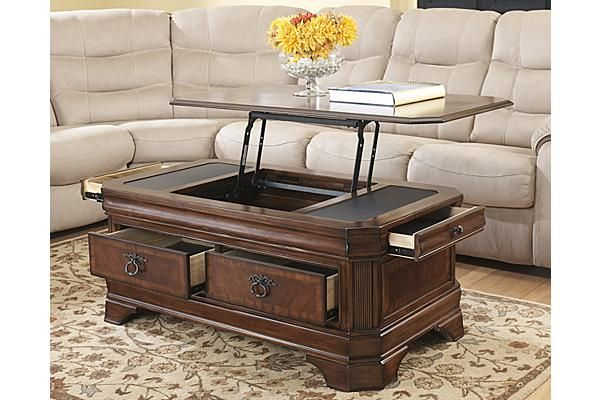 Accent Tables Hamlyn Lift Top Coffee Table Ashley Furniture