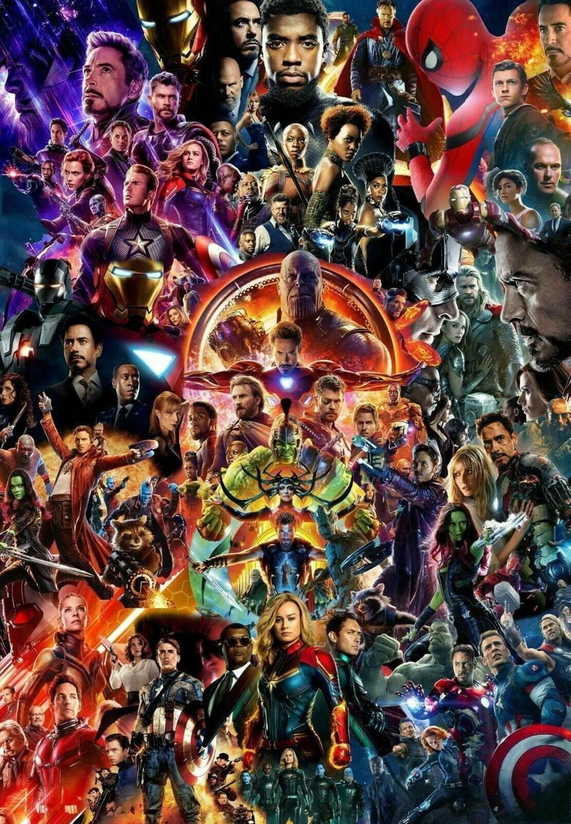 Mcu Movie Collage Avengers Endgame Iron Man Thor Spider-Man Us Supplie