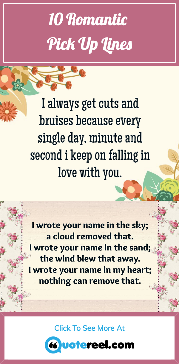 10 Romantic Pick Up Lines That Will Make The Moment Cute