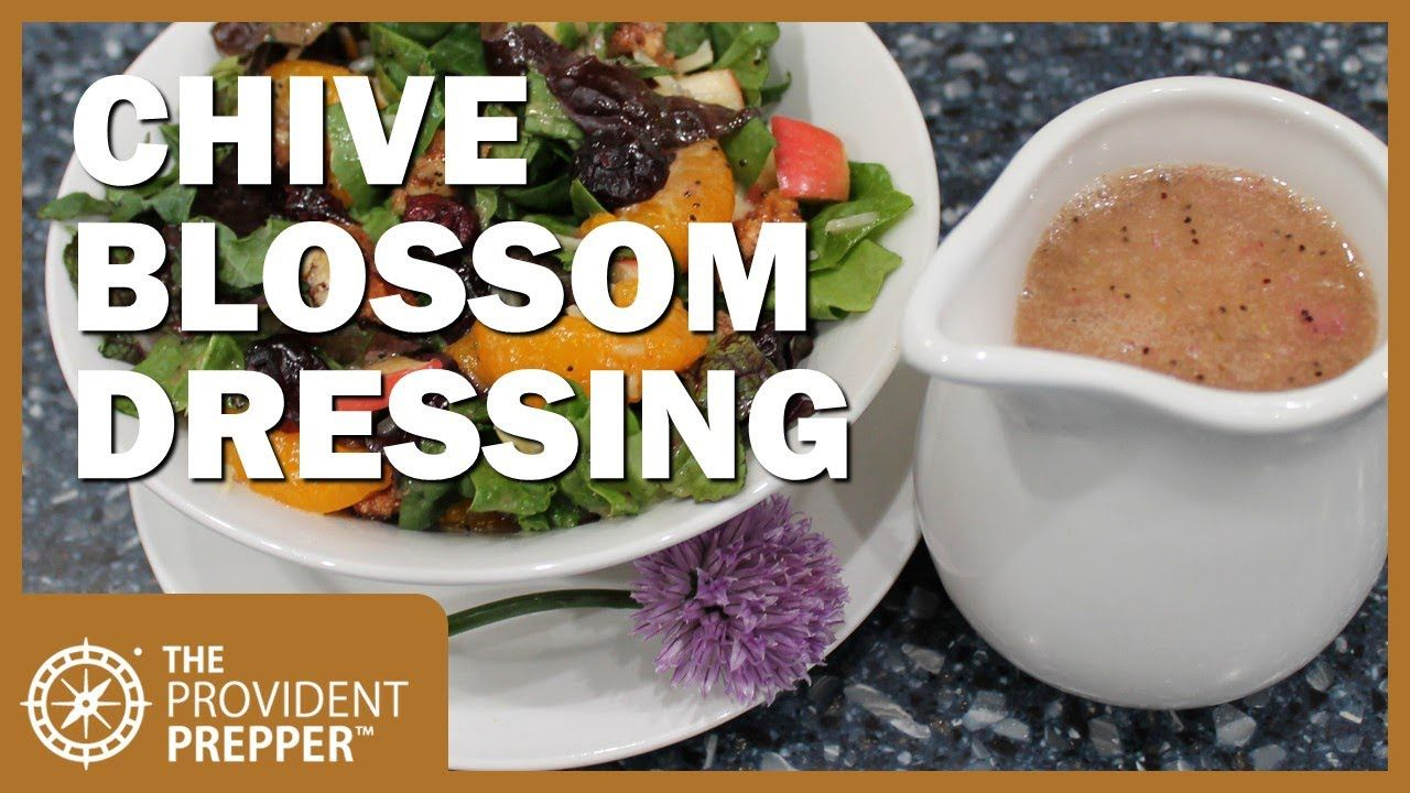 Chive blossom poppy seed dressing makes greens