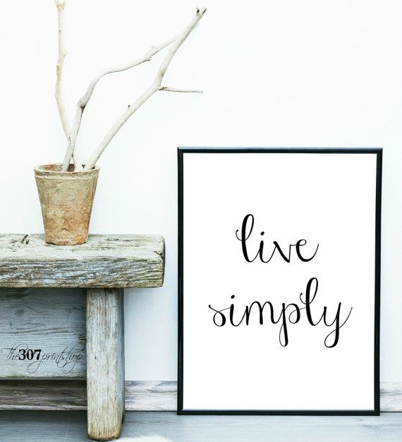 Live simply, wall decor, home decor, office decor, print, https ...