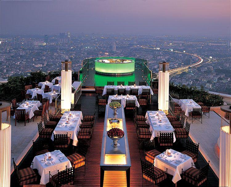 Una cena junto a las estrellas desde el cielo de #Bangkok es una experiencia que hay que vivir #viajes #Tailandia