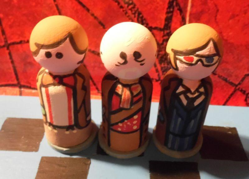 Doctor Who Peg People Chess Set Peter Capaldi Dalek Worldwide Shipping   eBay