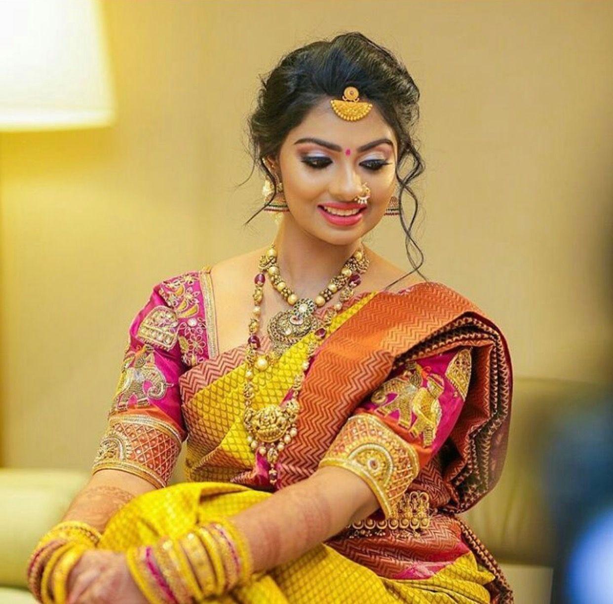Hindu Bridal Hairstyles 14 Safe Hairdos For The Modern: Pin By Pravallika On Woman Clothing