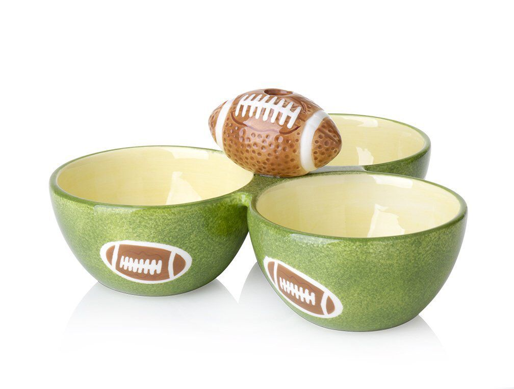 Football condiment bowl.