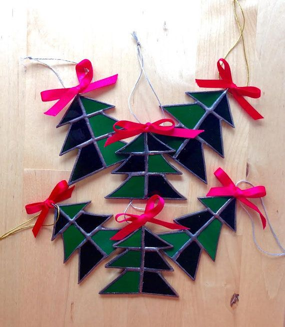 Ornaments Christmas Forest by PrimaVerre on Etsy