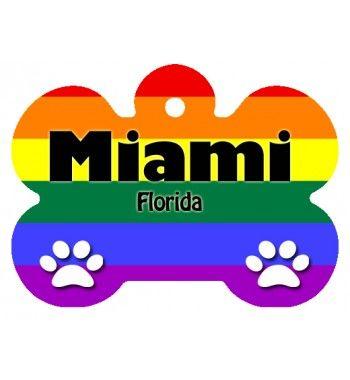 Miami Pride Pet Tag Miami Souvenirs for pets