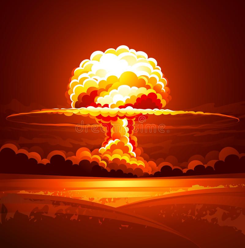 Nuclear Explosion In Thick Smoke Vector Illustration Spon Thick Explosion Nuclear Illustration Vec Nuclear Art Explosion Drawing Elements Of Art