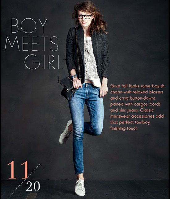 3d874a36029 Androgynous style jeans and blazer. Perfect Casual Look from j.crew ...