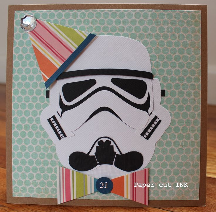 Pin by kendra ressler on handmade cards pinterest cards diy star wars theme storm trooper card using stampin up my minds eye bazzill paper bookmarktalkfo Image collections