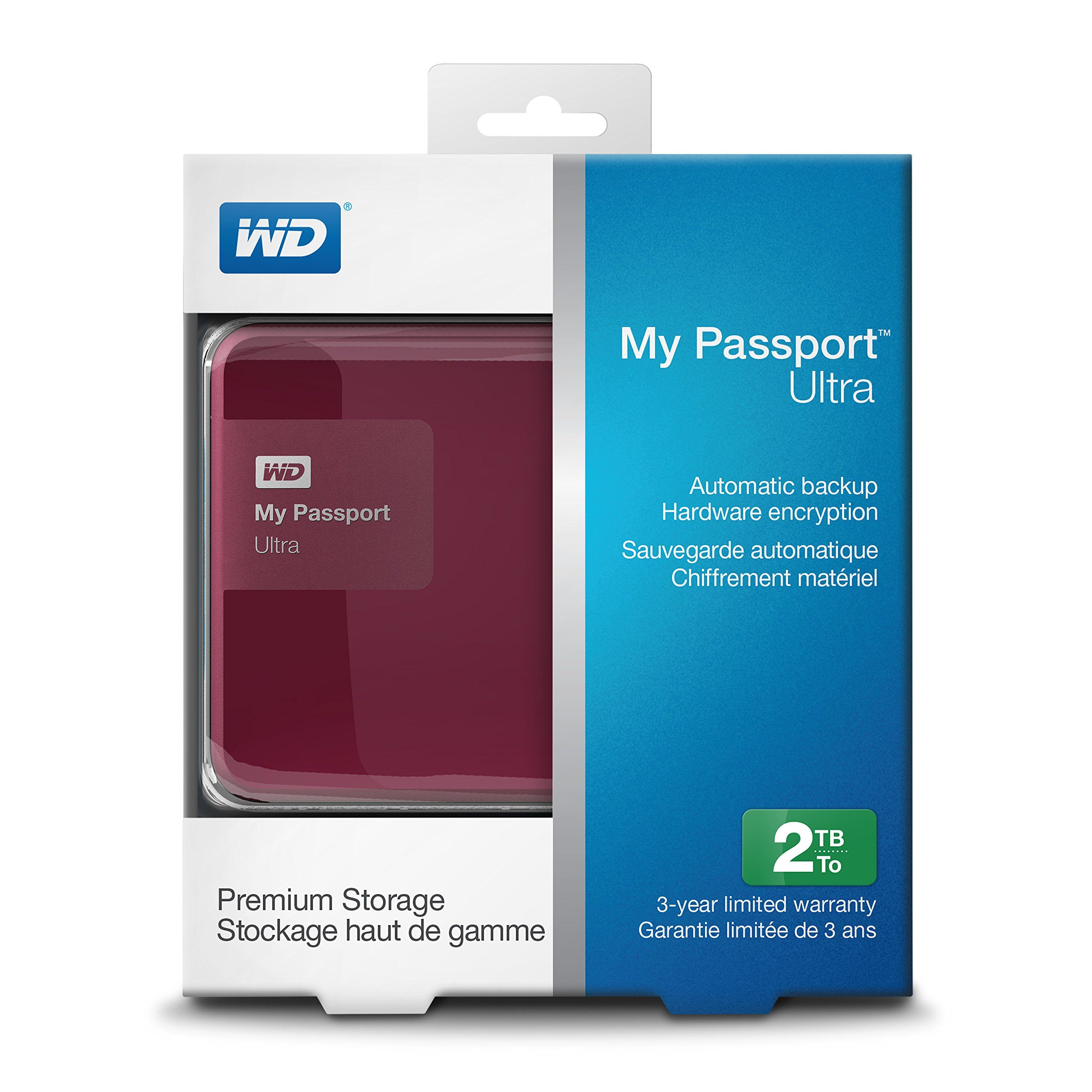 94 Amazon Com Wd My Passport Ultra 2 Tb Portable External Hard Drive Berry Wdbbkd0020bby Nesn Electronics Portable Hard Drives