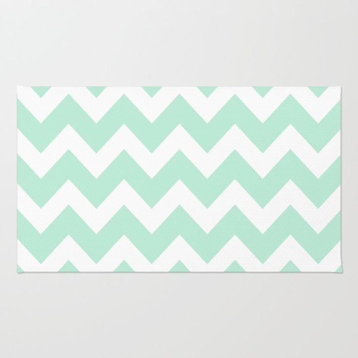 Chevron Mint Green White Rug More Throw Rugs And Mint Green Ideas