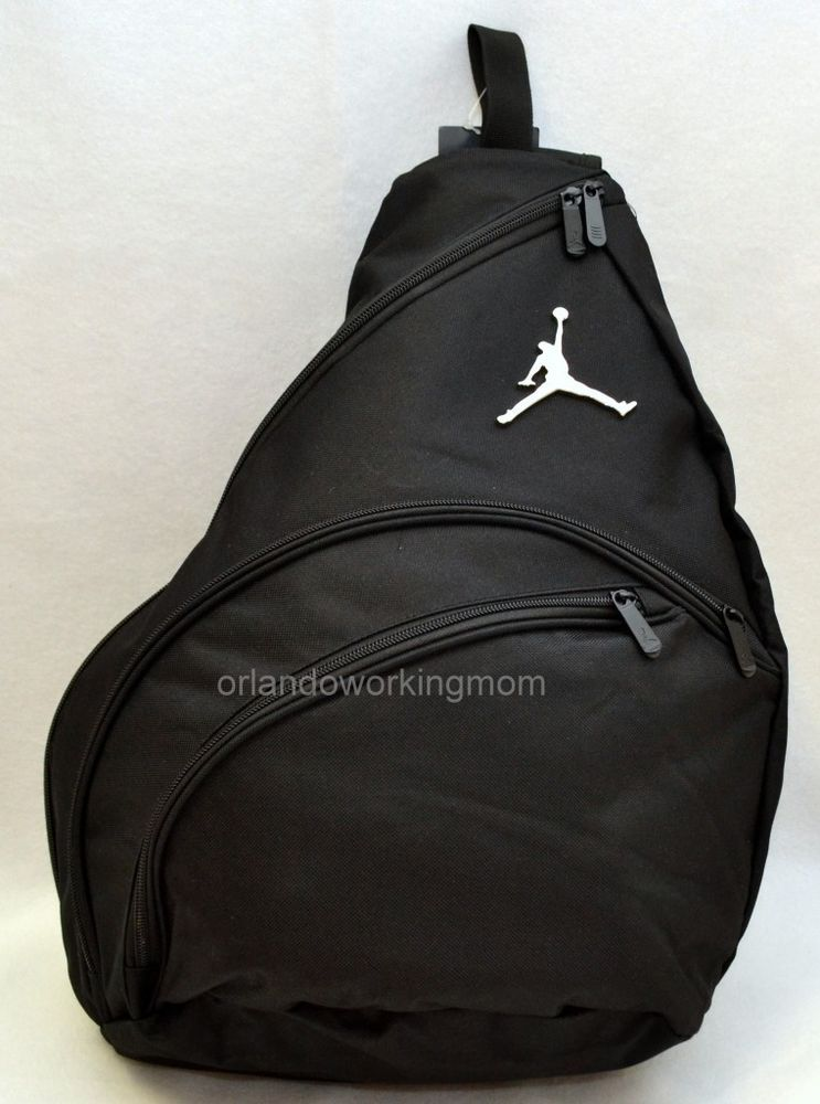 b0d0971993d4 Nike Air Jordan Sling Backpack Jumpman Black Men Women Boy Girls Book Bag   Nike  Backpack  Sling  OrlandoTrend