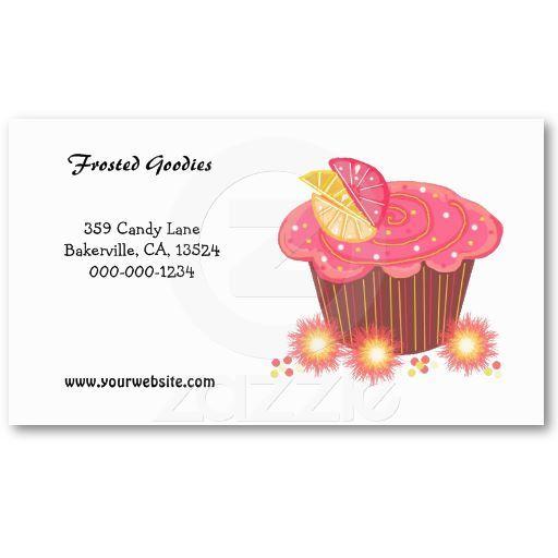 Sweet Pink Cupcake Design Business Card Crafty Business