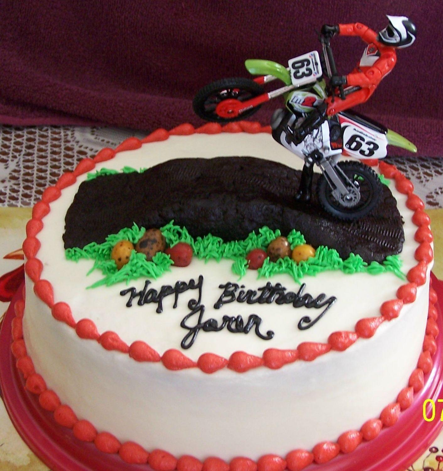 Strange Motocross Birthday With Images Dirt Bike Cakes Motorcross Birthday Cards Printable Trancafe Filternl