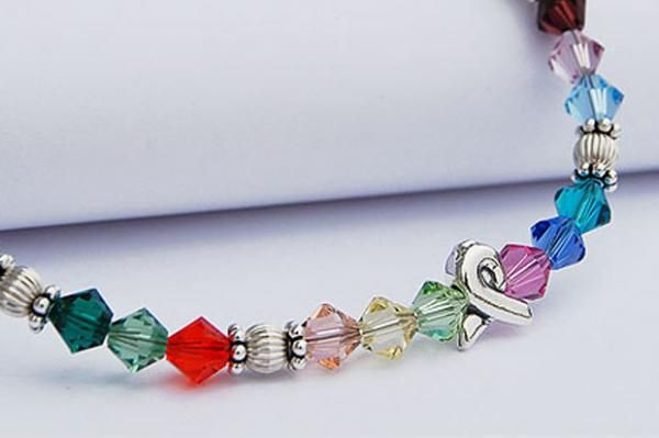 Together We Will Win® Sterling Ribbon Bracelet with Swarovski® Crystals   Choose Hope