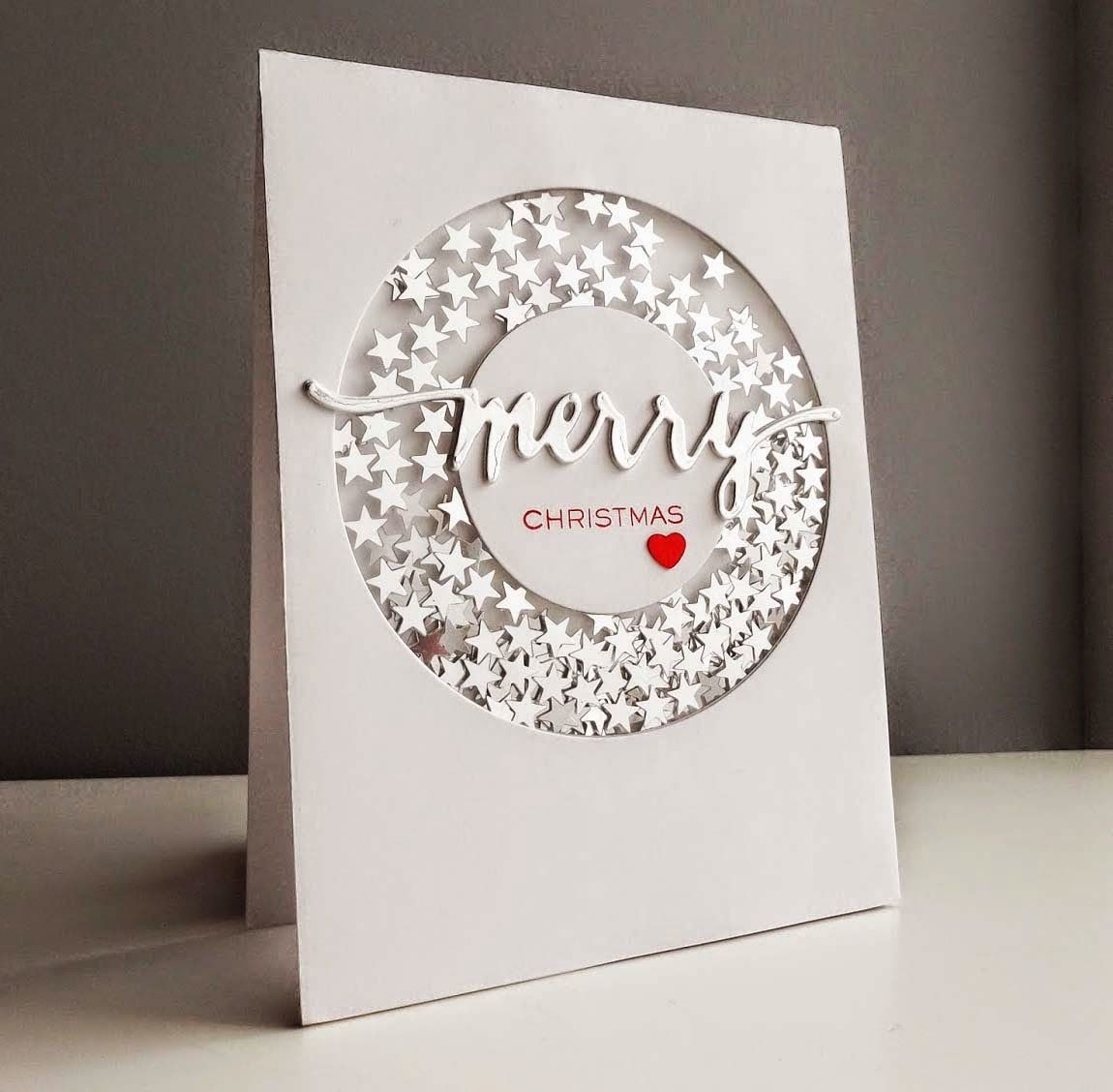 Fusion card challenge winners of sparkly christmas shaker cards