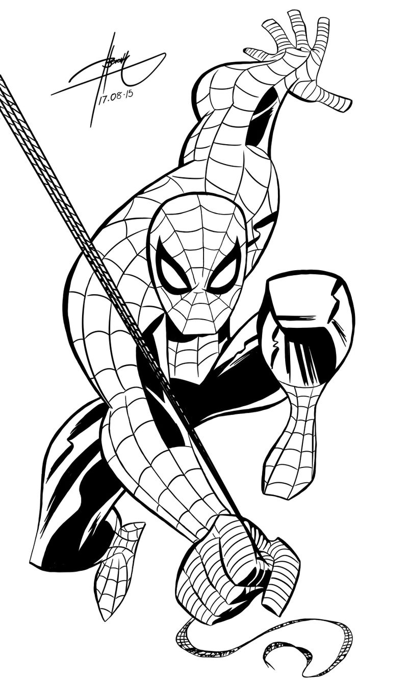 Spiderman | Cartoon art, Black white art, Drawing artist