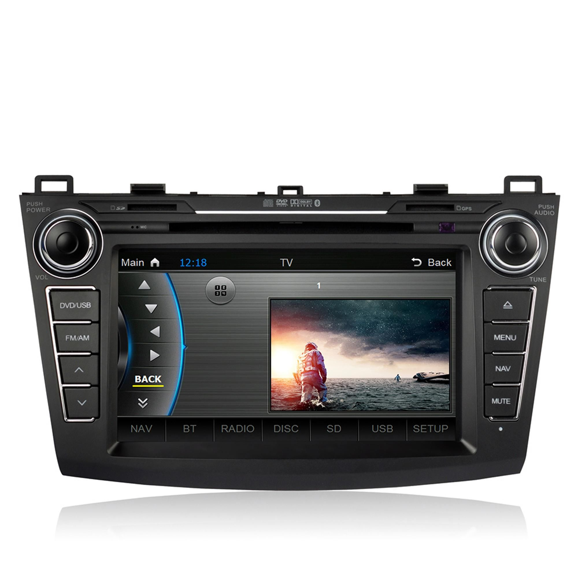 caska 8 inch hd touch screen car in dash dvd player 2 din car pc stereo head unit gps navigation bluetooth radio multimedia system for mazda 3 [ 2000 x 2000 Pixel ]