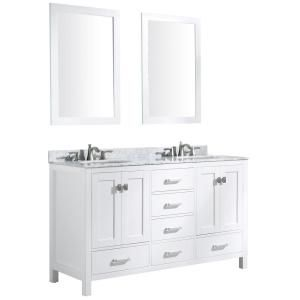 Fresca Oxford 14 In W X 68 In H X 15 3 4 In D Bathroom Linen Storage Cabinet In Antique White Marble Vanity Tops Bathroom Vanity Tops Double Vanity Bathroom