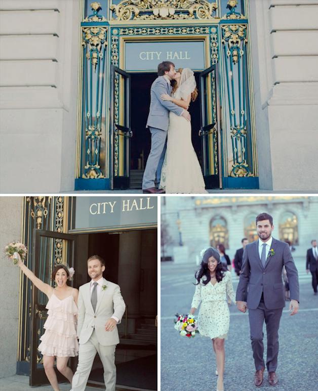 An Ode To San Francisco City Hall Weddings | City hall weddings, You ...