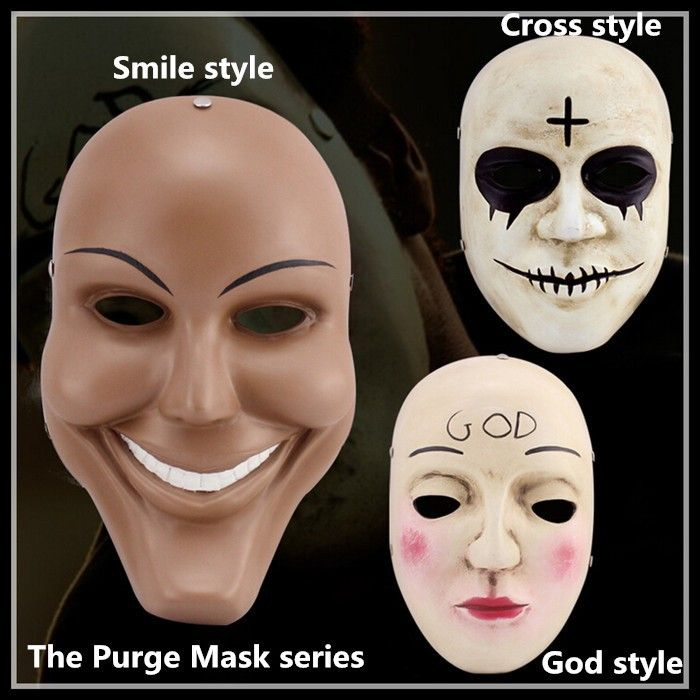 Resin Smile Face The Purge Mask Anarchy Movie prop Halloween masquerade Cosplay