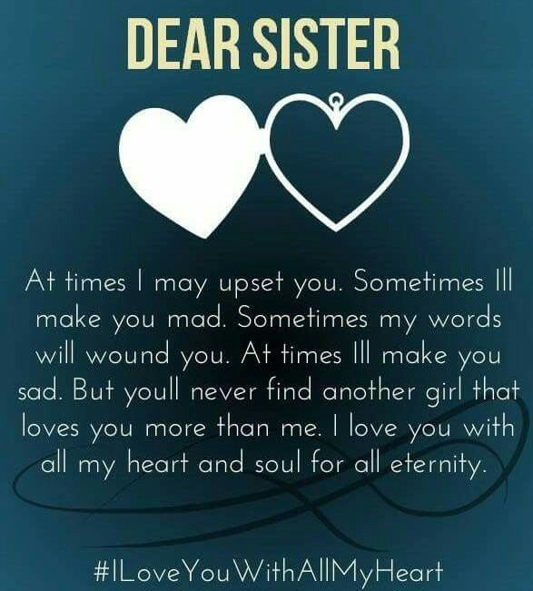 I Love You More Than Quotes Fascinating For My Beautiful Sisterssisters Daughters & Grands  Sisters . 2017