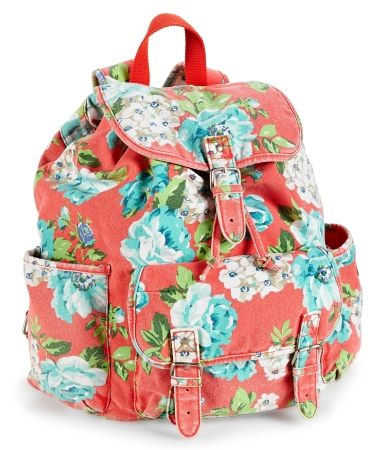bde1d3b6c Floral Canvas Backpack from aeropostle $16.00 (NOTE-HIGH PRIORITY!!!!!)