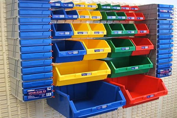 Make Use Of The Wall Space In Your Garage By Hanging Small Parts Storage  Bins.