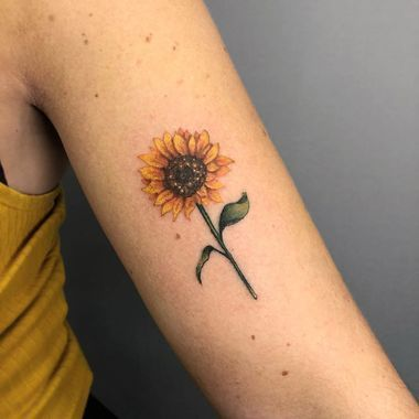 Photo of SUNFLOWER SMALL ARM TATTOO #UltraCoolTattoos