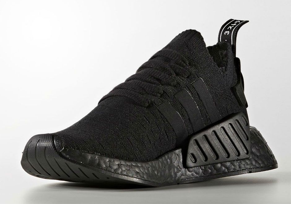 adidas Originals NMD R2 Trainers In all Black | Black adidas