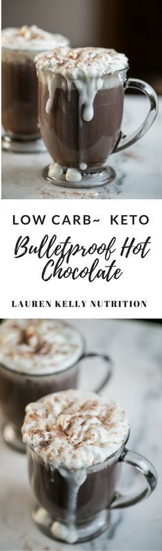 This Bulletproof Hot Chocolate is low carb, keto and high fat. From Lauren Kelly Nutrition