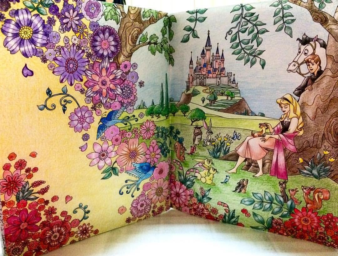 旅するディズニー塗り絵 眠れる森の美女 コロリアージュ Coloriage