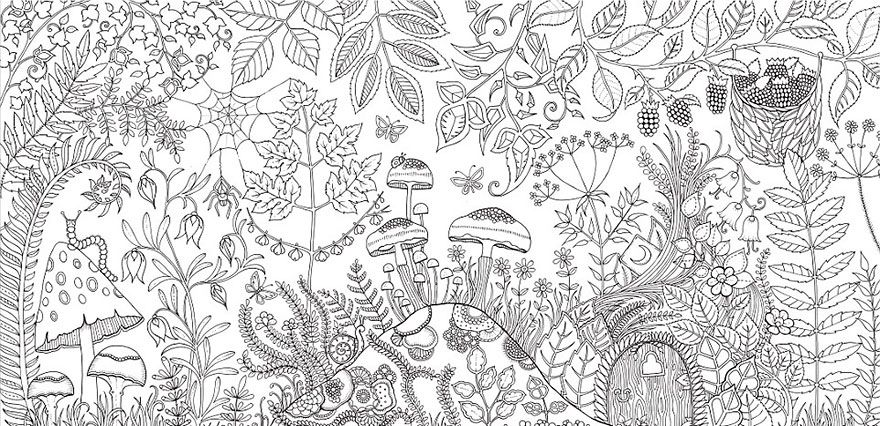 Johanna Basford Is A British Illustrator Who Has Sold More Than Million Copies Of Coloring Books For Grown Ups Enchanted Forest Ideas