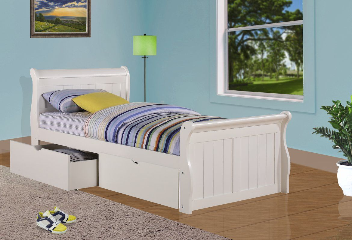 Harriet Bee Drinkwater Sleigh Bed with Storage & Reviews