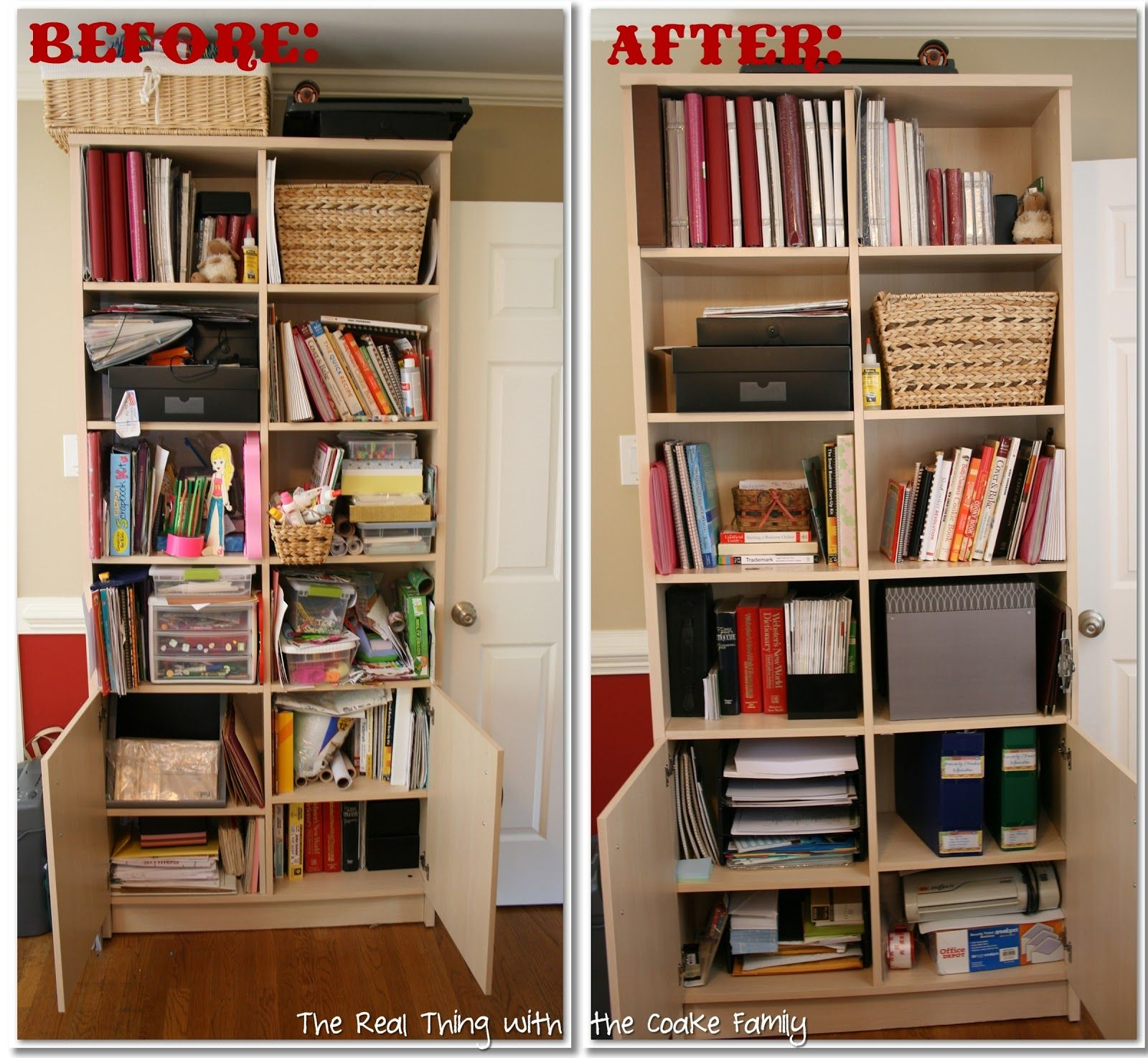 Organizing Ideas: Crafts & Office - The Real Thing with the Coake ...