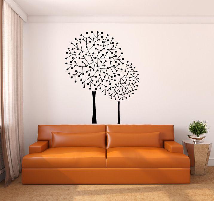 8003 - Art Deco Dot Tree Vinyl Wall Decal Sticker Graphic   design ...