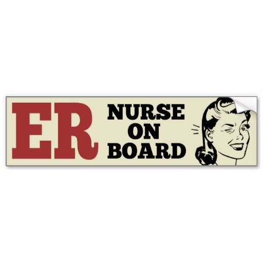 Er emergency room nurse retro bumper sticker
